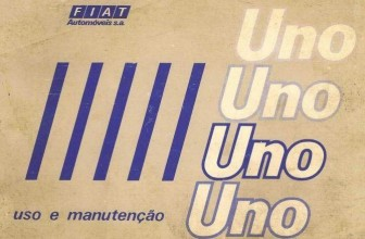 Manual do proprietário do Fiat Uno S, CS, 1.5R e Furgão